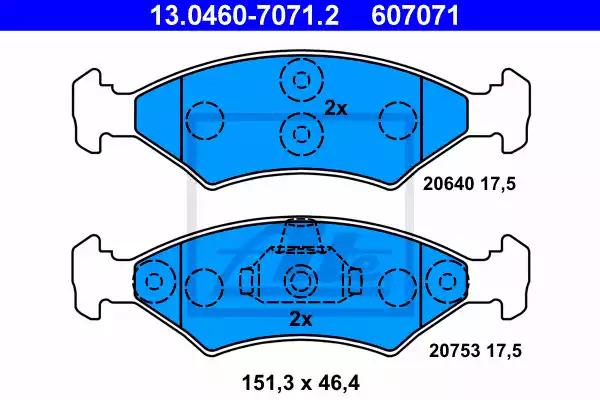 13.0460-7071.2 - Piduriklotsi komplekt, ketaspidur