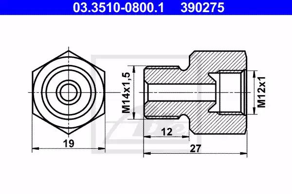 03.3510-0800.1 - Adapter, brake lines