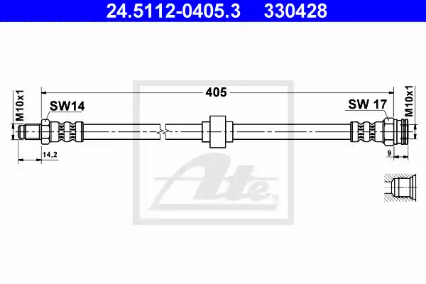 24.5112-0405.3 - Brake Hose