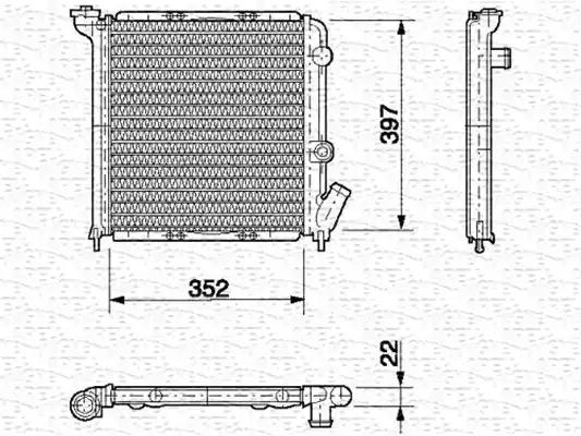350213613000 - Radiator, engine cooling