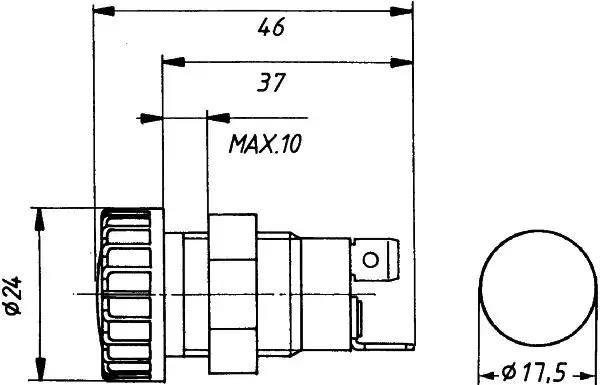 2AA 008 594-021 - Control Lamp