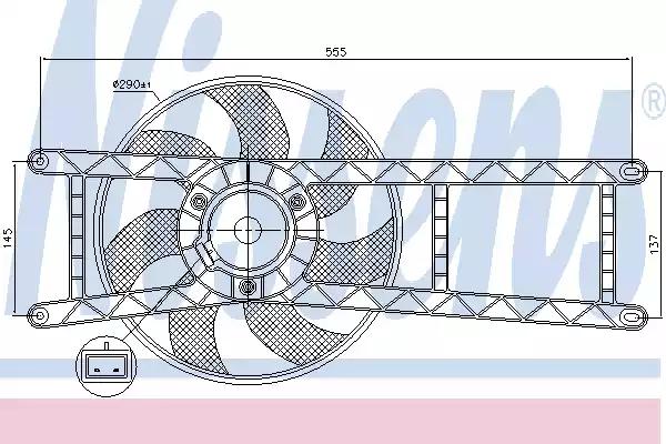 85145 - Tuuletin, moottorin jäähdytys