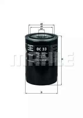 OC 33 - Oil filter