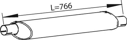 28441 - Middle-/End Silencer