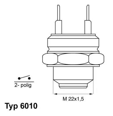6010.92D - Temperatuurilülitus, radiaatorivent.