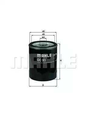 OC 93 - Oil filter