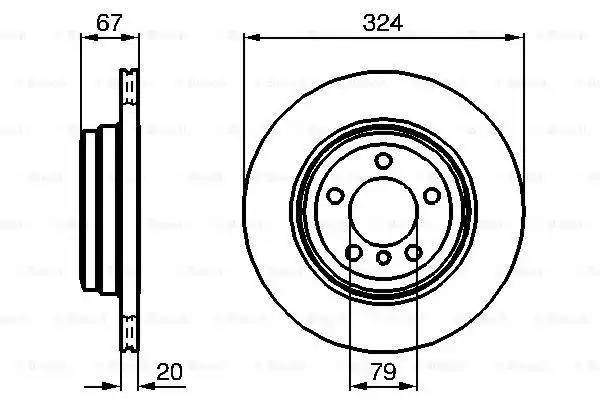 0 986 479 004 - Brake Disc