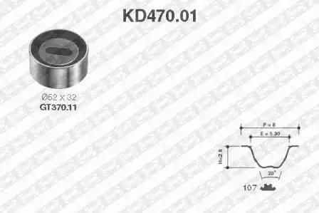 KD470.01 - Hammasrihma komplekt