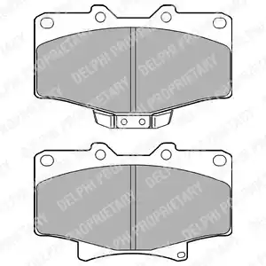 LP1070 - Brake Pad Set, disc brake