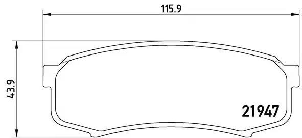 P 83 024 - Piduriklotsi komplekt, ketaspidur