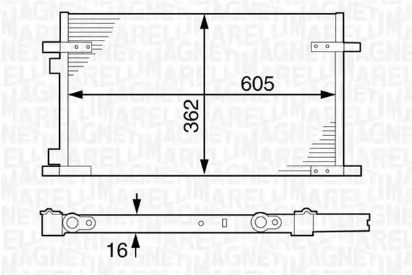 350203609000 - Lauhdutin, ilmastointilaite
