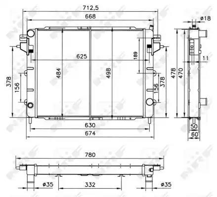 52144 - Radiator, engine cooling