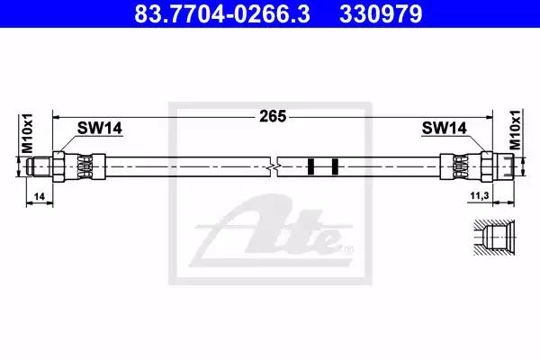 83.7704-0266.3 - Brake Hose
