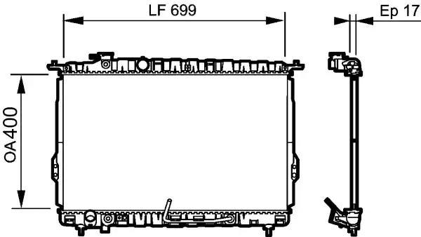 734949 - Radiator, engine cooling