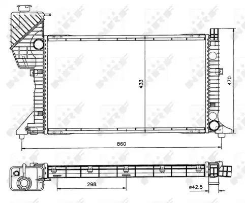 50557 - Radiaator, mootorijahutus