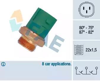38165 - Temperatuurilülitus, radiaatorivent.