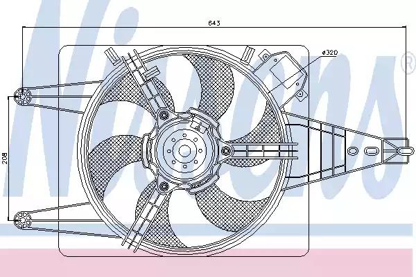85100 - Ventilaator, mootorijahutus