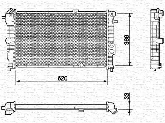 350213591000 - Radiaator, mootorijahutus