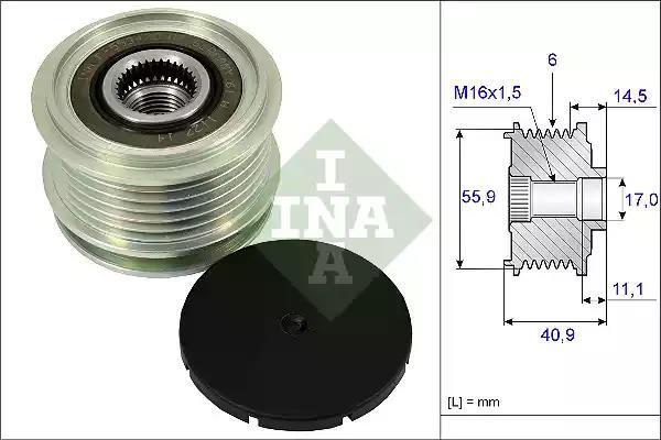 535 0012 10 - Alternator Freewheel Clutch