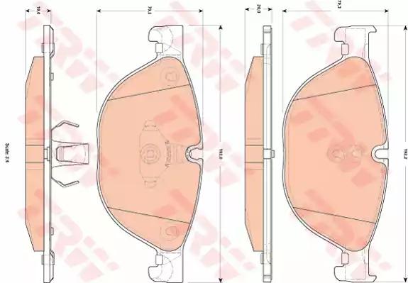 GDB1838 - Piduriklotsi komplekt, ketaspidur
