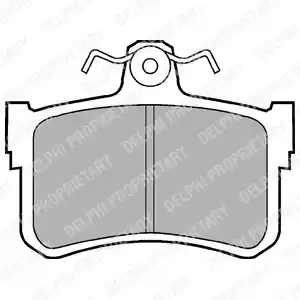 LP880 - Brake Pad Set, disc brake