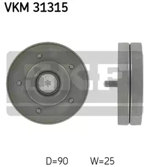 Deflection/Guide Pulley, v-ribbed belt