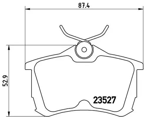 P 28 030 - Brake Pad Set, disc brake