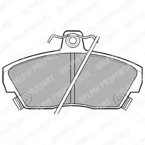 LP618 - Brake Pad Set, disc brake