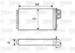 Van Wezel 40006118 Heat Exchanger Interior Heating