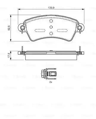 0 986 424 529 - Brake Pad Set, disc brake