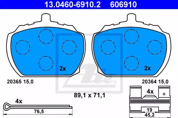 13.0460-6910.2 - Brake Pad Set, disc brake