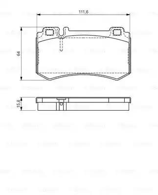 0 986 494 356 - Brake Pad Set, disc brake