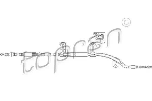 110 992 - Cable, parking brake
