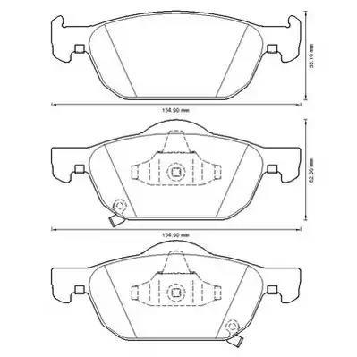 572624JC - Brake Pad Set, disc brake