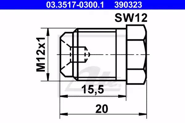 03.3517-0300.1 - Screw Plug, brake master cylinder