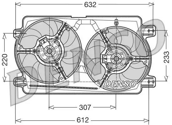 DER01018 - Ventilaator, mootorijahutus