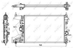 engine cooling Nissens 630728 Radiator