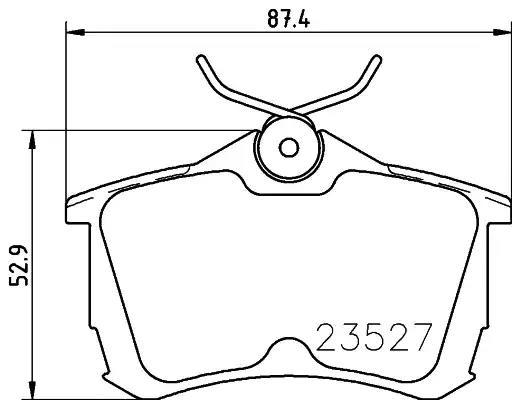 MDB1990 - Brake Pad Set, disc brake