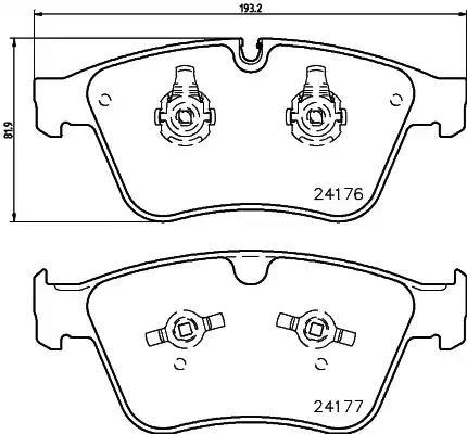 MDB2983 - Brake Pad Set, disc brake