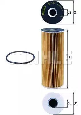 OX 133D - Oil filter