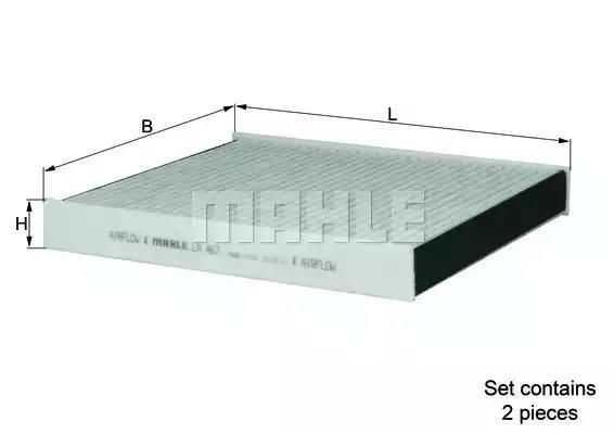 LAK 467/S - Filter, interior air