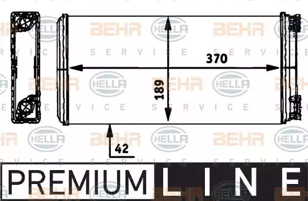 8FH 351 312-361 - Heat Exchanger, interior heating