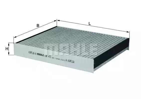 LAK 472 - Filter, interior air