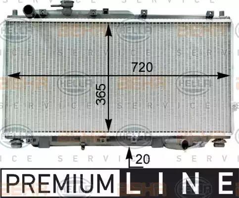 8MK 376 763-401 - Radiator, engine cooling