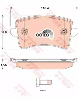 GDB1765 - Brake Pad Set, disc brake