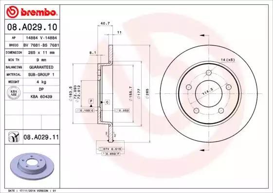 08.A029.10 - Brake Disc