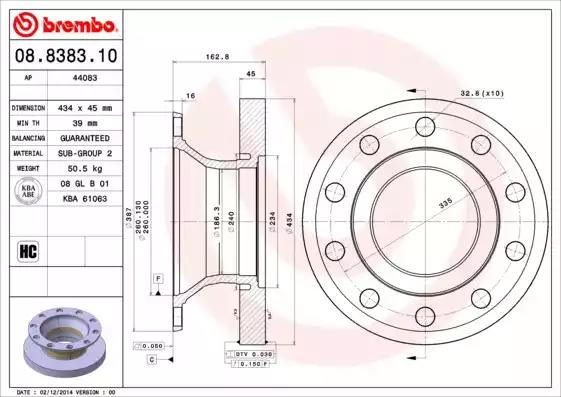 08.8383.10 - Brake Disc