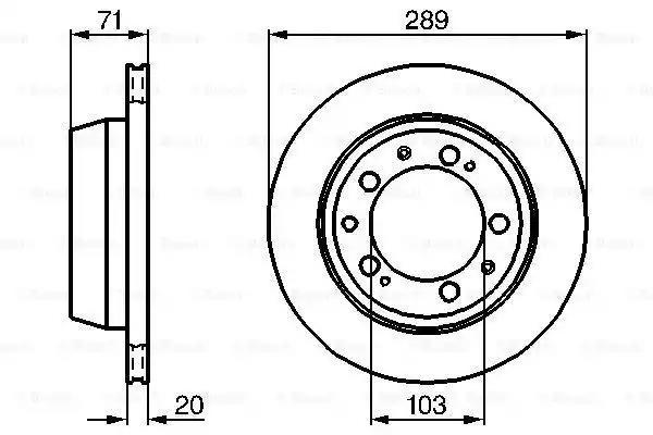0 986 478 101 - Brake Disc