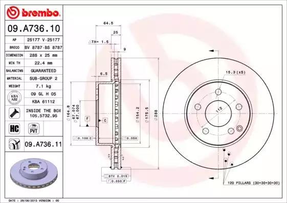 09.A736.10 - Brake Disc