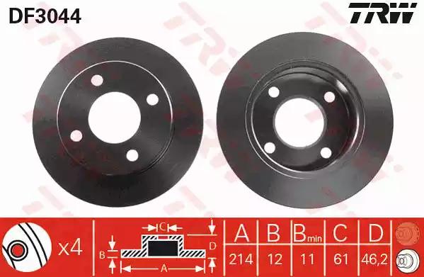 DF3044 - Brake Disc